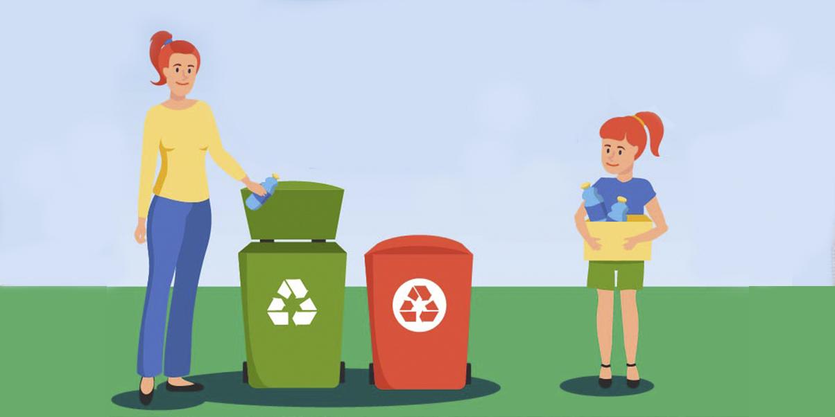 Установка новых контейнеров для сбора раздельного мусора